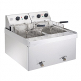 Parry Twin Tank Twin Basket Countertop Electric Fryer NPDF3
