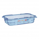 Aravan ABS Food Storage Container Blue GN 1/4 65mm