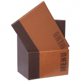 Securit Contemporary Menu Covers and Storage Box A4 Tan
