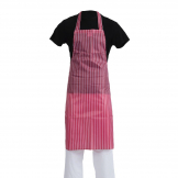 Whites Waterproof Bib Apron Red And White Stripe