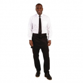 Whites Short Bistro Apron Black