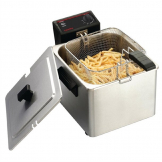 Caterlite Light Duty Single Tank Single Basket Countertop Electric Fryer 3kW