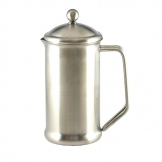 Olympia  Satin Finish Stainless Steel Cafetiere 6 Cup