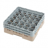 Cambro Camrack Beige 25 Compartments Max Glass Height 133mm