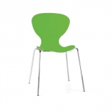 Bolero Lime Stacking Plastic Side Chairs (Pack of 4)