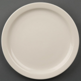 Olympia Ivory Narrow Rimmed Plates 230mm (Pack of 12)