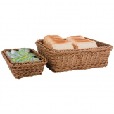 Polypropylene Brown Rattan Basket 1/3 GN