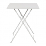 Bolero Grey Square Pavement Style Steel Table