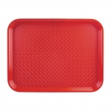 Kristallon Small Polypropylene Fast Food Tray Red 345mm