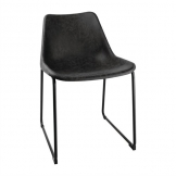 Bolero Rodeo Side Chairs Black (Pack of 2)
