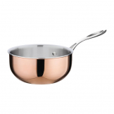 Vogue Tri Wall Copper Flared Saute Pan 200mm