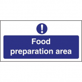 Vogue Food Preparation Area Sign