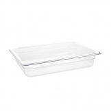 Vogue Polycarbonate 1/2 Gastronorm Container 65mm Clear
