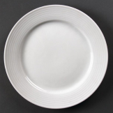 Olympia Linear Wide Rimmed Plates 250mm (Pack of 12)