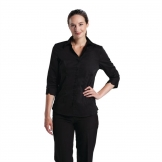 Chef Works Womens Stretch Shirt Black L