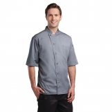 Chef Works Valais Signature Series Unisex Chefs Jacket Grey L