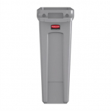 Rubbermaid Slim Jim Container With Venting Channels Grey 87Ltr
