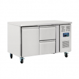 Polar U-Series Double Drawer Counter Fridge 282Ltr