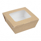 Huhtamaki Recyclable Paperboard Takeaway Boxes With Window Medium 1070ml / 37oz (Pack of 270)