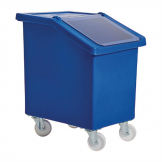 Fletcher Mobile Ingredient Bin 90Ltr Blue
