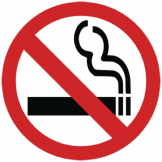 No Smoking Symbol Window Sign