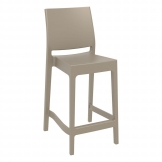 Spice Mid Height Bar Stool  65 Taupe