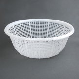 Vogue Round Colander White 380mm
