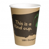 Fiesta Green Compostable Hot Cups Single Wall 340ml / 12oz x 50 (Pack of 50)