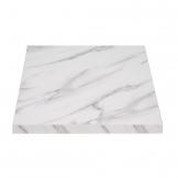 Bolero Pre-drilled Square Table Top 600mm Marble Effect