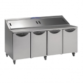 Williams Onyx 4 Door Refrigerated Prep Counter 835Ltr CPC4-SS