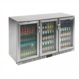 Polar Back Bar Cooler with Hinged Doors Stainless Steel 330Ltr