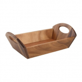 Acacia Wood Bread Basket with Handles