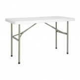 Bolero Rectangular Folding Table 4ft White