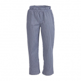 Whites Unisex Vegas Chefs Trousers Small Blue and White Check S
