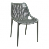 Bolero Anthracite PP Mesh Side Chair (Pack of 4)