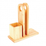 Olympia Wooden Menu Rack with Cutlery Pot