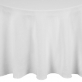 Essentials Occasions Tablecloth White 178cm (120 TC, Polyester)