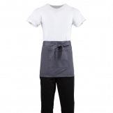 Whites Short Bistro Apron Charcoal