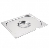 Vogue Stainless Steel 1/2 Gastronorm Notched Lid
