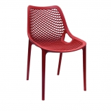Bolero Red PP Mesh Side Chair (Pack of 4)