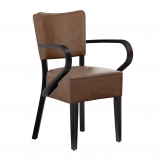 Club Arm Chair - Wenge - Distressed Bark