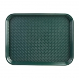 Kristallon Small Polypropylene Fast Food Tray Green 345mm