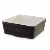 APS+ Melamine Square Bowl Oak and Cream 3.5 Ltr
