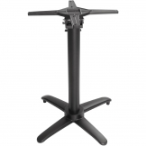 Bolero Aluminium Flip Top Table Base Black
