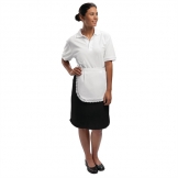 Whites Waitress Apron  With Trim