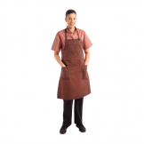 Chef Works Urban Dorset Antique Bib Apron Rust
