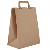 Vegware Compostable Recycled Paper Carrier Bags Large (Pack of 250)
