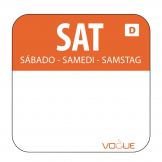 Dissolvable Food Rotation Labels Saturday (Pack of 1000)