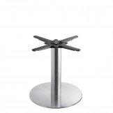 Boston - Brushed Steel Small Round Coffee Table Base