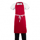 Whites Bib Apron Red